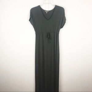 TOMMY BAHAMA Olive Green Casual Maxi Dress
